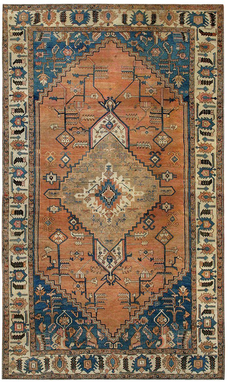 Antique Bakshaish Persian Rug #43968 Detail/Large View - By Nazmiyal