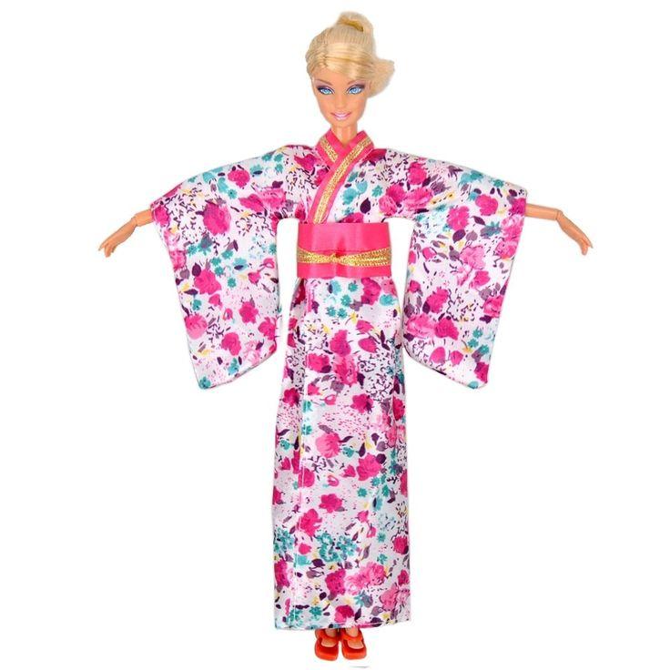 Handgemacht Puppenkleidung Traditionelle japanische Kimono Kleid für Barbie | eBay