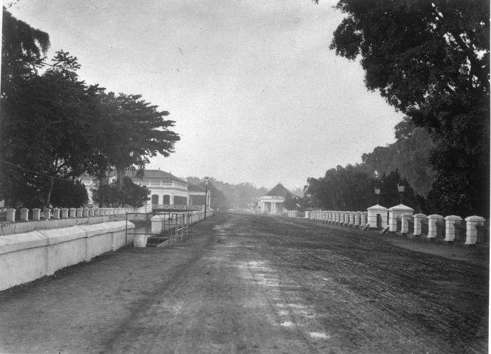 Batavia: de Molenvliet in Weltevreden, ca. 1900