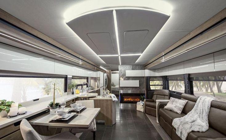 Cuando la autocaravana parece un piso de lujo  #autocaravanas #vehículo #caravana #viajes