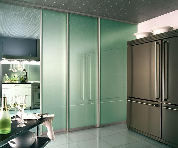 Sliding door for kitchen salons pinterest for Sliding door for kitchen entrance