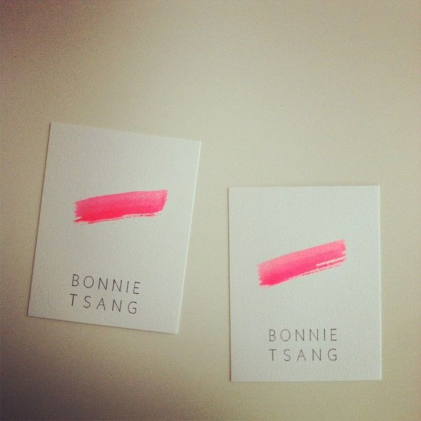 bonnie tsang paint brush stroke business card identity