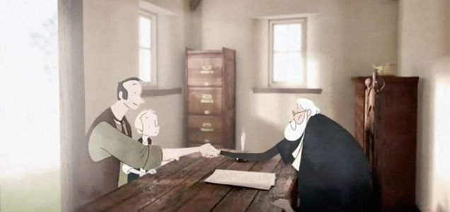 """Read more: https://www.luerzersarchive.com/en/magazine/commercial-detail/tsb-bank-53569.html TSB Bank TSB Bank: """"The Story"""" [02:30]# This impressively animated short tells of the beginnings and subsequent development of a bank that can look back on a long history – TSB bank. Tags: Damon Collins,Studio AKA, London,Marc Craste,Joint, London,TSB Bank"""