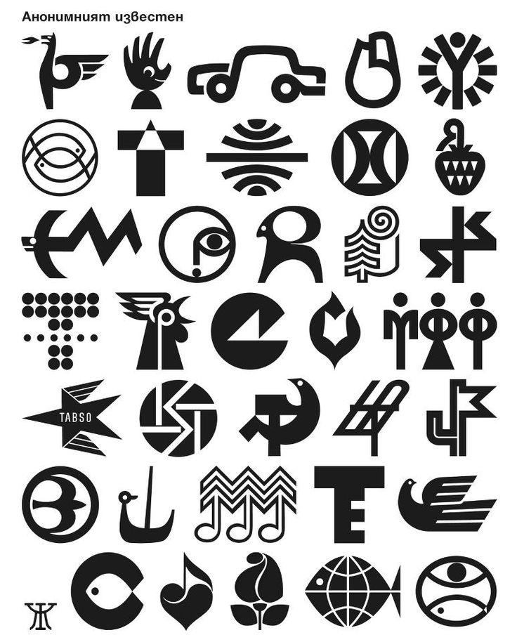 Nice and bold icons/logos; designer unknown