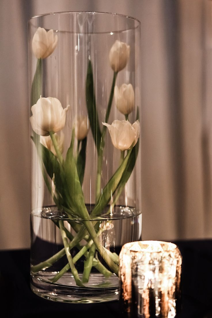 Front runner here - Tulip centerpiece More