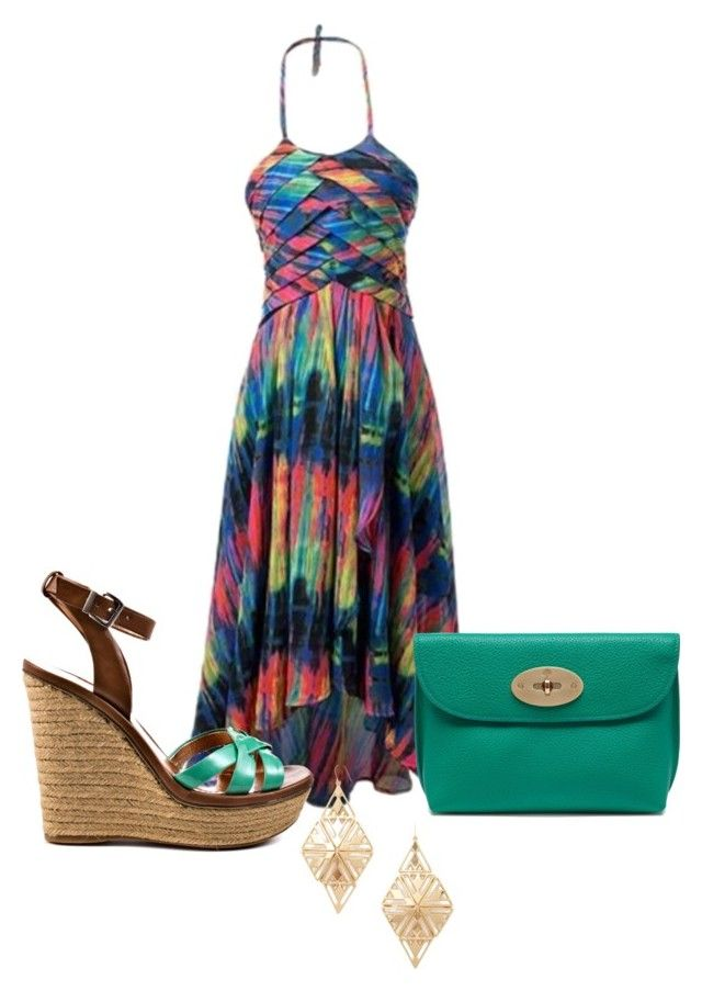 """""""Untitled #2771"""" by janicemckay ❤ liked on Polyvore featuring BCBGeneration, Mulberry and Forever 21"""