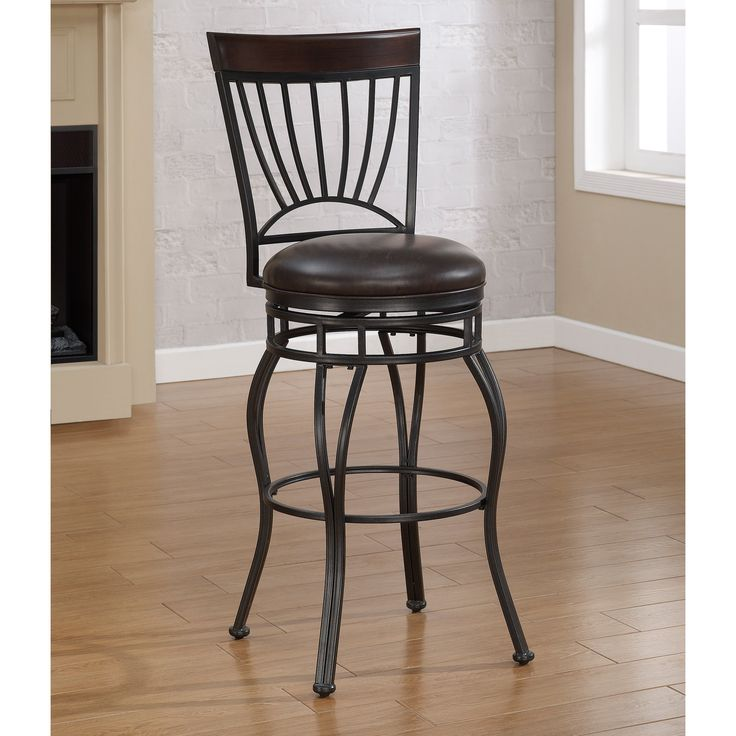 American Woodcrafters Horizon Extra Tall Bar Stool Charcoal The eye catching American Woodcrafters