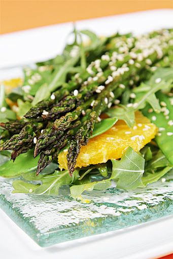 Asparagus Salad with Valencia Oranges and Ginger-Citrus Vinaigrette ...