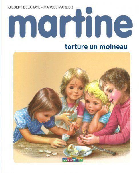 Martine torture un moineau