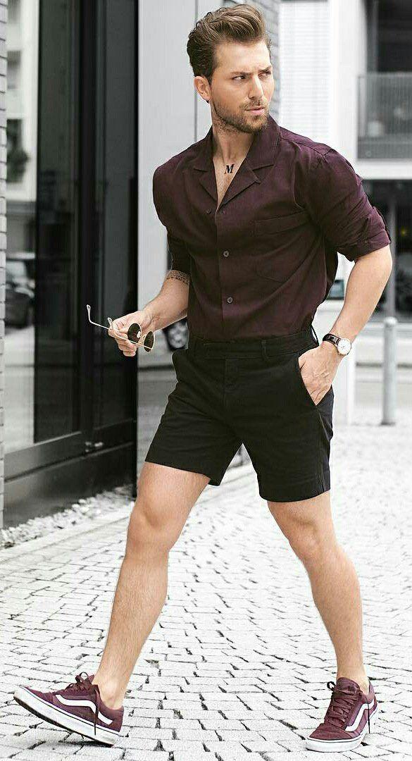 Men in short shorts exposed #9