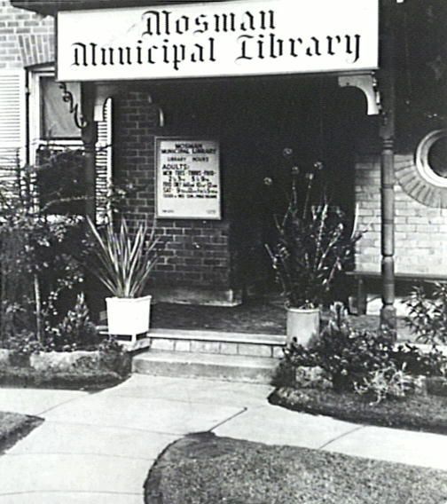 Mosman Library, established as a free children's library in 1934, became a public library when Mosman Council adopted the Library Act in 1945. It occupied a house on the corner of Military and Belmont Roads until 1952. This photograph is taken when the Library moved premises to 'Boronia' on Military Road near Spit Junction.