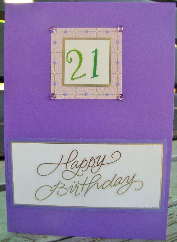 21st Birthday  handmade card FWB cards for by RogueKissedCraft