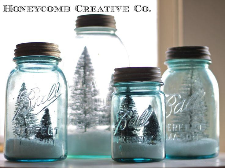 DIY snow globes, perfect youngster project | honeycombcreative
