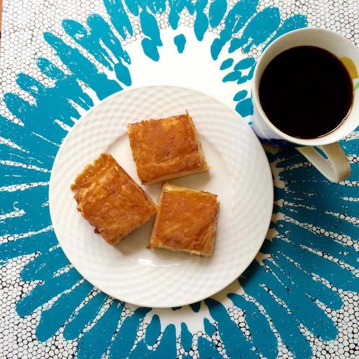 Filter coffee and some sweet pies with traditional fyllo pastry. That's how we roll every morning.
