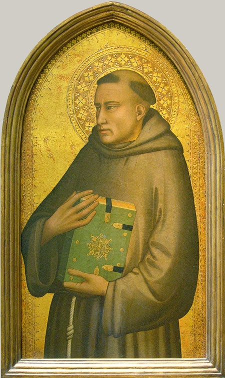 Saint Anthony of Padua Maso di Banco (Italian, Florentine, active 1320–46) Tempera on wood, gold ground Although much damaged, this representation of Saint Anthony has the weight and gravity that are characteristic of the work of Maso di Banco, Giotto's greatest follower.
