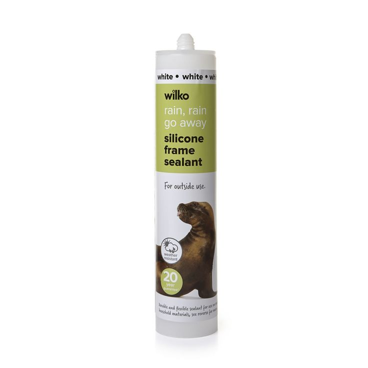 Wilko Frame Sealant Silicone White 300ml