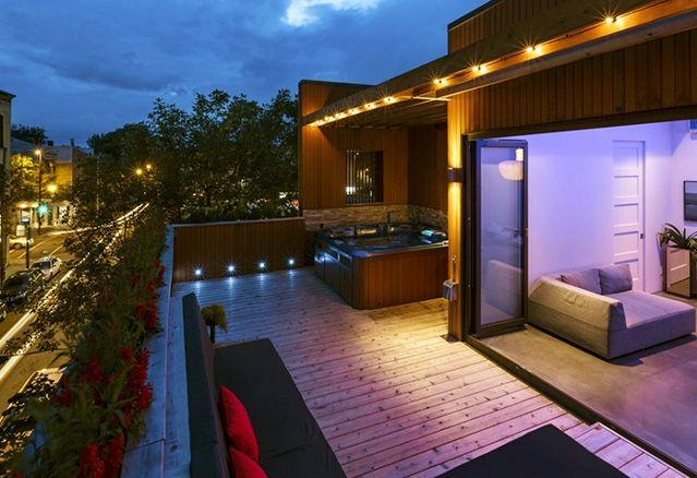 Terrasse de l'extérieur des penthouses Mentana