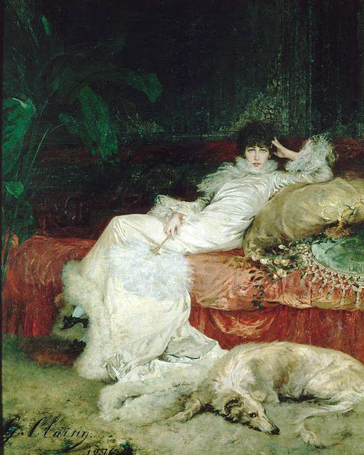 Georges-Jules-Victor CLAIRIN  : Portrait of Sarah Bernhardt