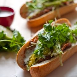 Garlic-Chile Pork Bánh Mì with Coconut-Lime Dressing - As a salad??
