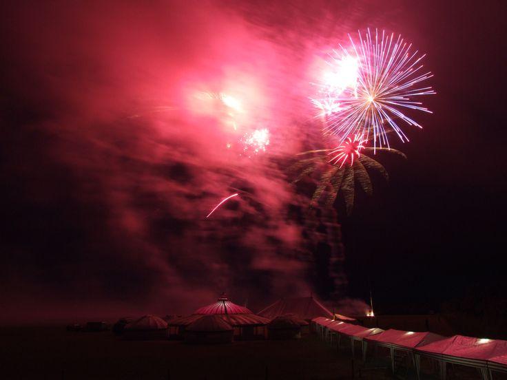 Fireworks with LPM Bohemia tents beneath