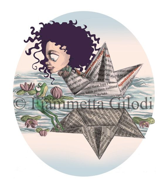 Greeting card Upsidedown  handmade digital art di creativityoffia, €4.20