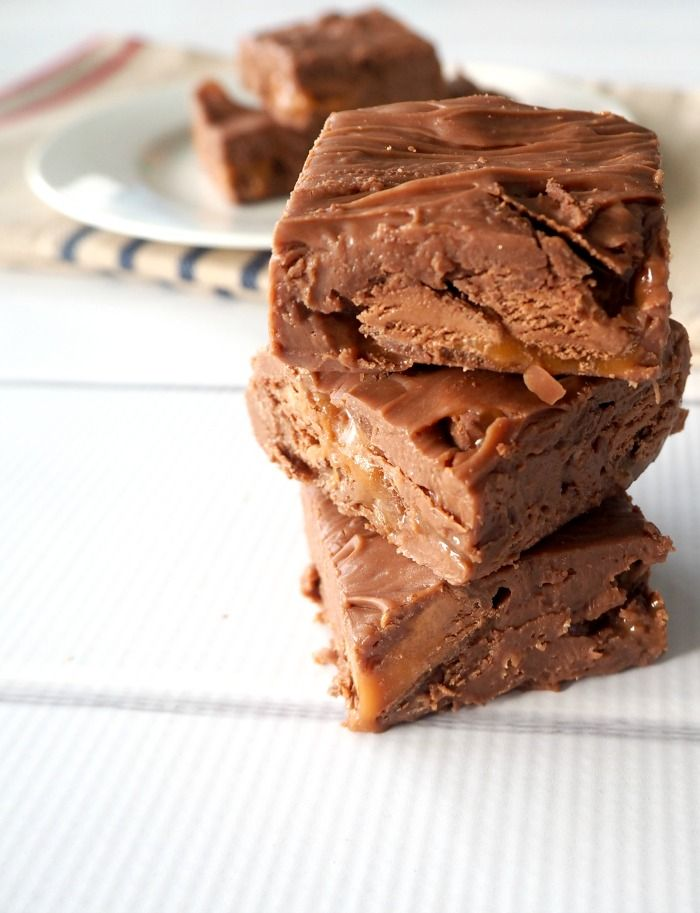 Three Ingredient Mars Bar Fudge - conventional and Thermomix instructions included.