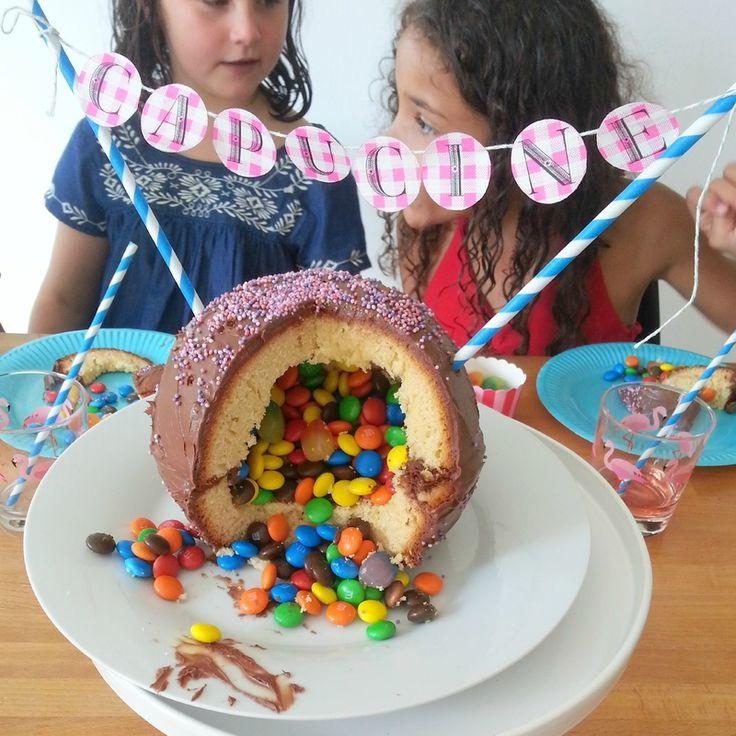 Piñata cake - Gâteau surprise rempli de bonbons