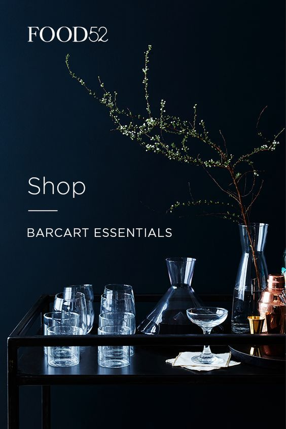 Make happy hour even happier: Food52 has champagne coupes, decanters, and more barware that you'll want to show off (on an industrial-chic bar cart perhaps?). Get the look at food52.com.