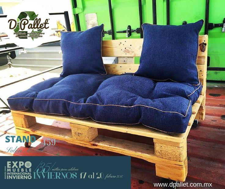 Sillón Twin  #dpallet #mobiliarioecologico #diseñointeriorMobiliario para #hogar ventas@dpallet.com.mx WhatsApp 3310554119 Tel. 10320165  #Pallet #Palletfurniture #Ecofriendly #Pet  #Muebles #Mueblesconpalet