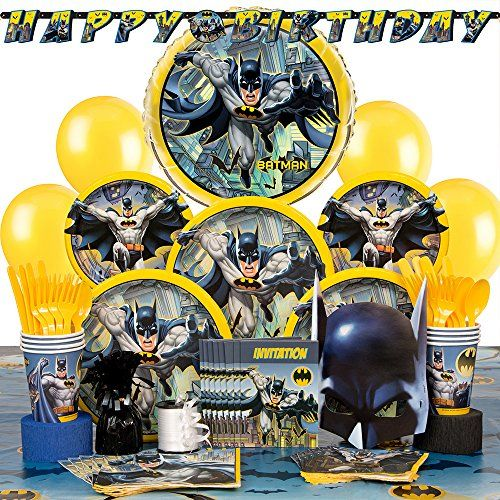 Deluxe Batman Party Supplies Kit for 8 - http://www.partysuppliesanddecorations.com/deluxe-batman-party-supplies-kit-for-8.html