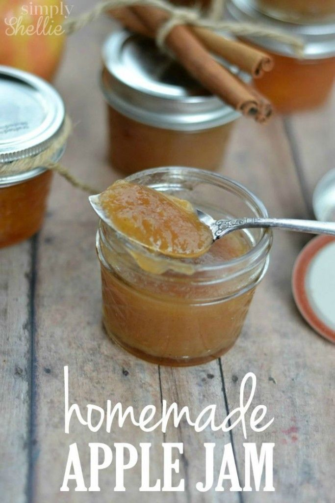 'Have you ever wondered How to Make Apple Jam? It's so simple and takes less than 30 minutes. Homemade Apple Jam is the perfect Fall treat or teacher gift idea!