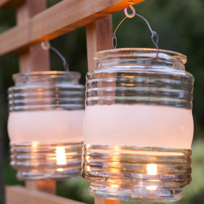Turn An Empty Clear Jelly Jar Glass Into A Quick And Easy Lantern.