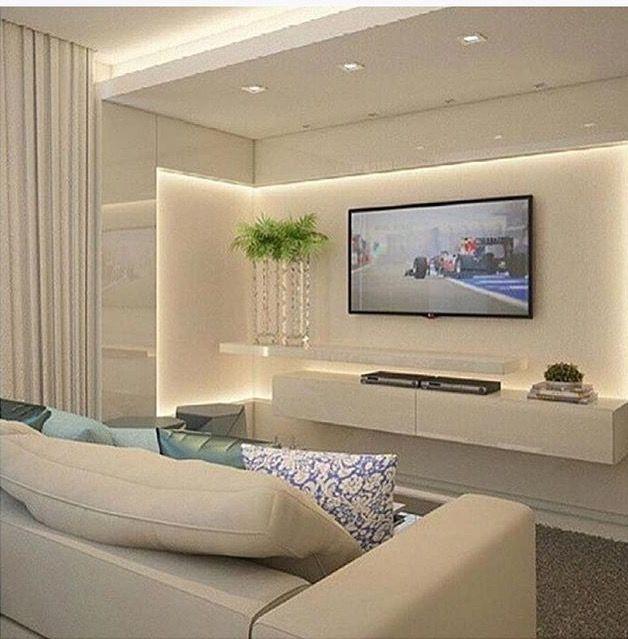 Sala de TV / Living #decor #decoração #apartamentodecorado #homedecor #tvlounge