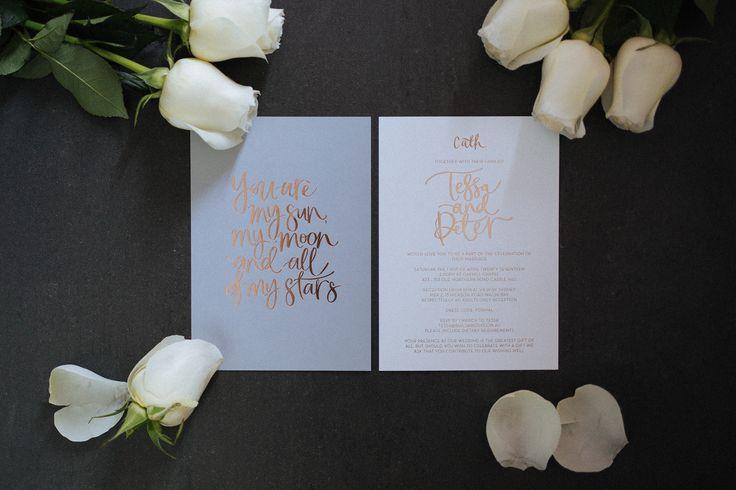 the blackline by lauren wedding stationery   Photo by Laura Marii