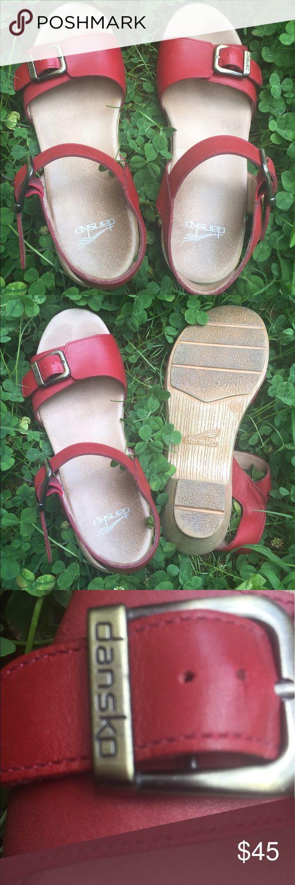 Dansko Red sandal Great RED engine sandal...... comfortable brand and in wonderful condition! Dansko Shoes Sandals