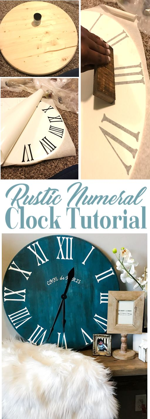 HOW TO : DIY Clock Tutorial