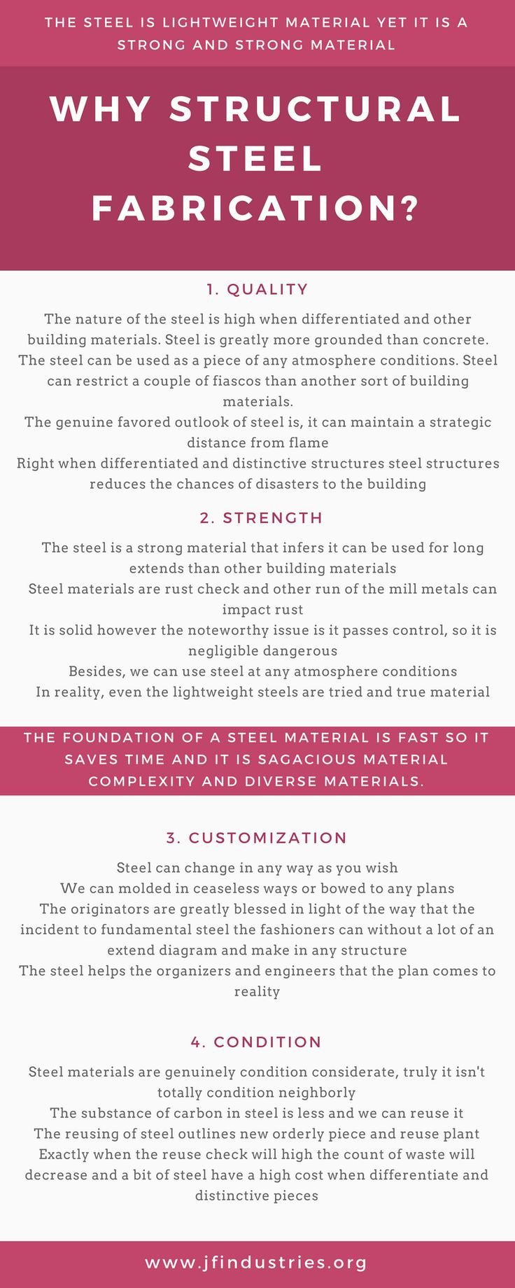 Structural steel has a long list of benefits associated with it as a sustainable and highly reliable material for construction. However, the fabrication and welding processes necessary to transform structural steel into products used for construction and other industrial applications are complex and demanding. If you do not find a company who can pull them off properly the material's viability may be compromised.