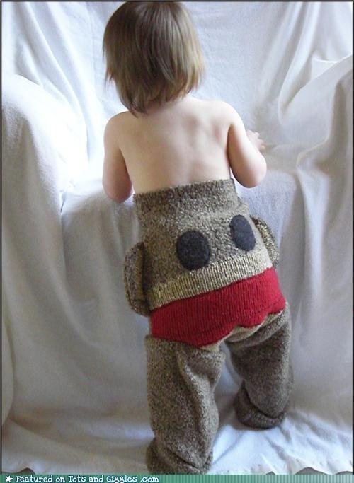 Cute Baby Product - Sock Monkey Pants: Baby Products, Sock Monkeys, Monkey Diapers, Baby Fluffy, Socks Monkey, Wool Socks, Baby Boys, Baby Lilly, Baby Crafts