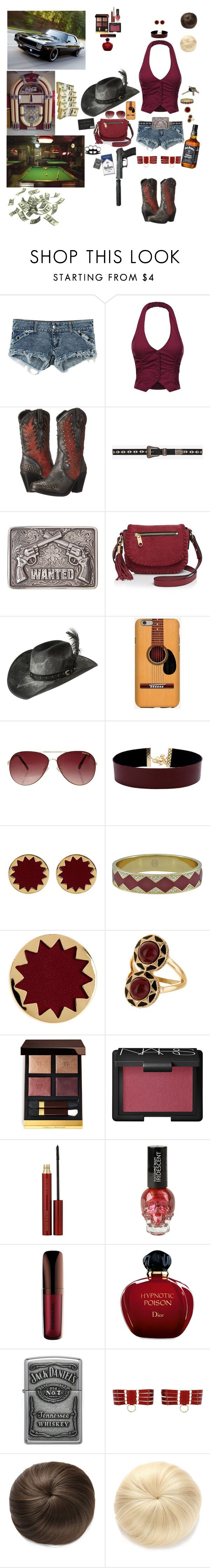 """""""Fastest Girl In Town"""" by blackmagicmomma ❤ liked on Polyvore featuring Dingo, Yves Saint Laurent, M&F Western, Milly, Bailey Western, MINKPINK, Vanessa Mooney, House of Harlow 1960, Tom Ford and NARS Cosmetics"""