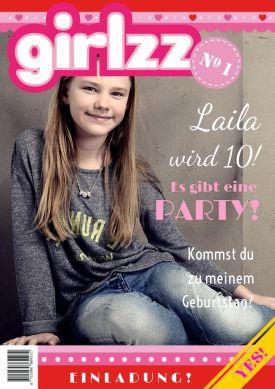 Tolle Einladung für Mädels - wie ein Jugendmagazin. Einfach Foto hochladen- fertig!  #Mädchen #Girls #Zeitschrift   #Magazin #Geburtstag#Einladung #birthday #einladunggeburtstag.de
