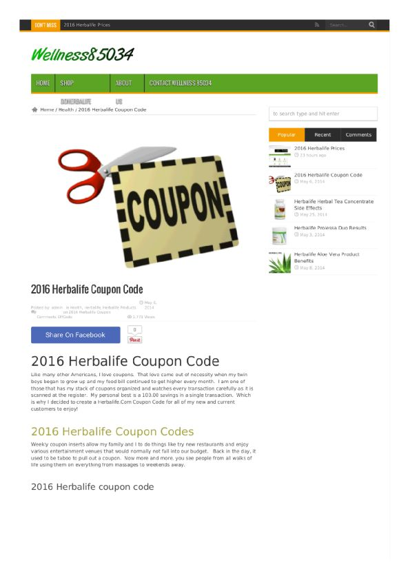 Herbalife coupon code