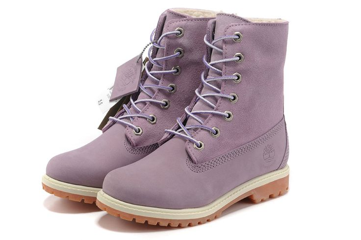 Womens Timberland 8-Inch Boots Purple
