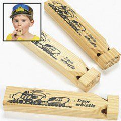 Wooden Train Whistles (12 Pack)
