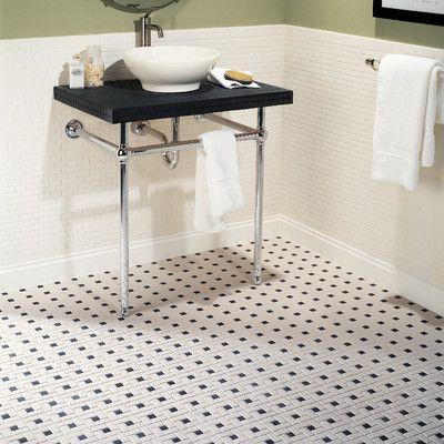 33 Best Tile Patterns Images On Pinterest  Bathroom Bathrooms Interesting Black And White Mosaic Tile Bathroom Decorating Design