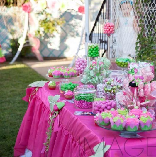 candy table for a birthday party or baby shower