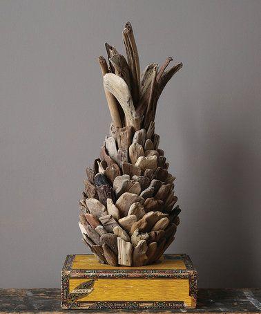Love this Driftwood Pineapple Decoration on #zulily! #zulilyfinds