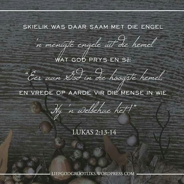 God Met Ons - Die Reaksie - Die Engele - Week 4 - Woensdag - Vandag se verse  Hebreërs 1:6, Lukas 2:8-14  Hoe verheerlik jy God met jou woorde, jou gedrag, jou gesindheid, en jou optrede?