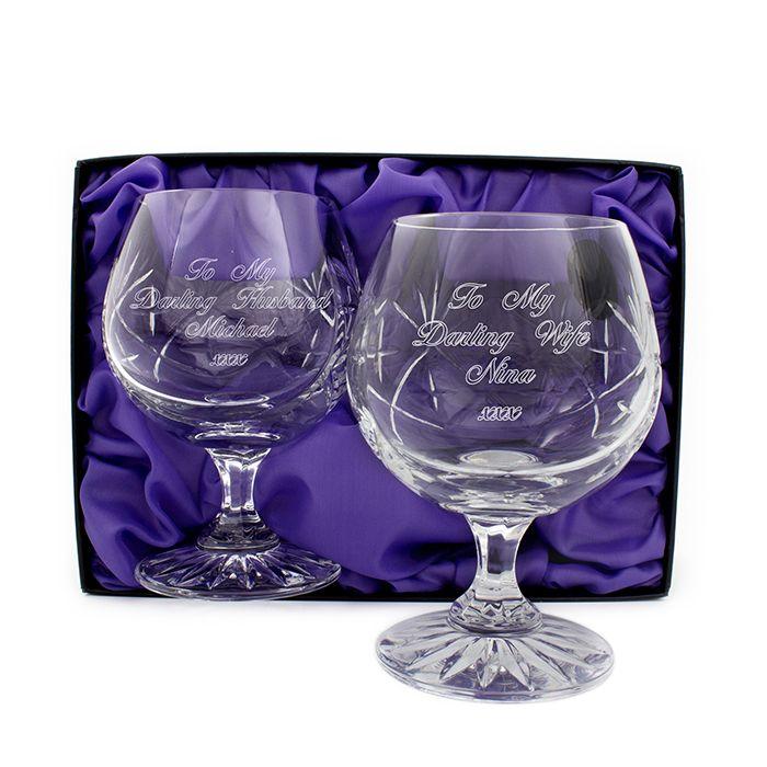personalised brandy glasses