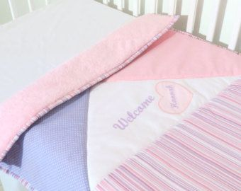 Chica edredón manta de elefante rosa gris cuna ropa de cama