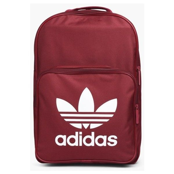 adidas Originals Classic Trefoil Backpack | Red | Bags | BP7303 |... ❤ liked on Polyvore featuring bags, backpacks, backpack bags, red backpack, adidas originals bag, rucksack bags and knapsack bag